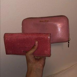 Pink Miu Miu Wallets
